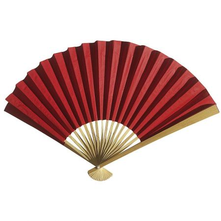 Διακοσμητική κινέζικη Βεντάλια χάρτινη κόκκινη, 40x25cm