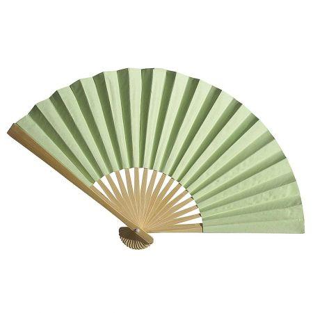 Διακοσμητική κινέζικη Βεντάλια χάρτινη πράσινο, 40x25cm