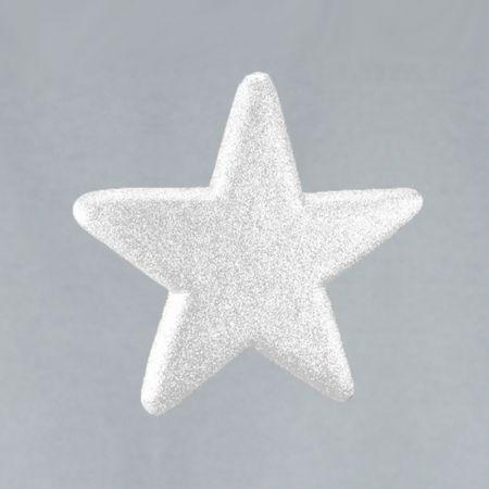 Διακοσμητικό χριστουγεννιάτικο αστέρι Glitter Λευκό 25cm