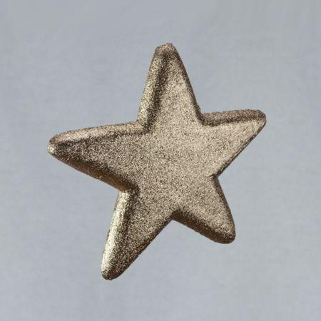 Διακοσμητικό χριστουγεννιάτικο αστέρι, Σαμπανί, 25cm