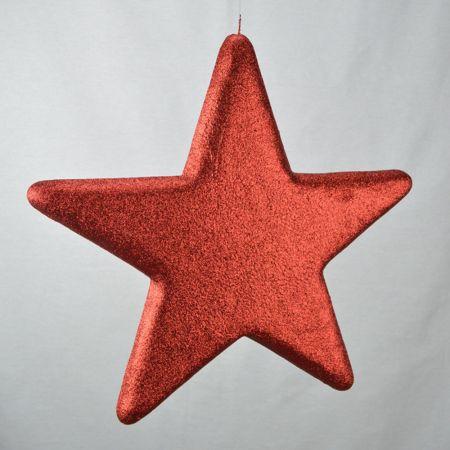 Διακοσμητικό χριστουγεννιάτικο αστέρι Κόκκινο, 40cm