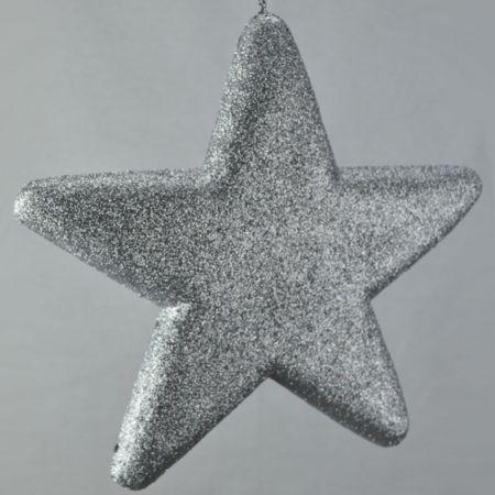 Διακοσμητικό χριστουγεννιάτικο αστέρι Ασημί, 50cm