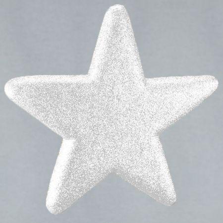 Διακοσμητικό χριστουγεννιάτικο αστέρι Glitter Λευκό 50cm