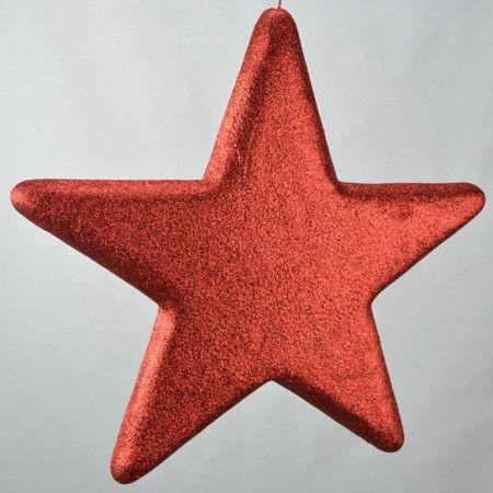 Διακοσμητικό χριστουγεννιάτικο αστέρι Κόκκινο, 50cm