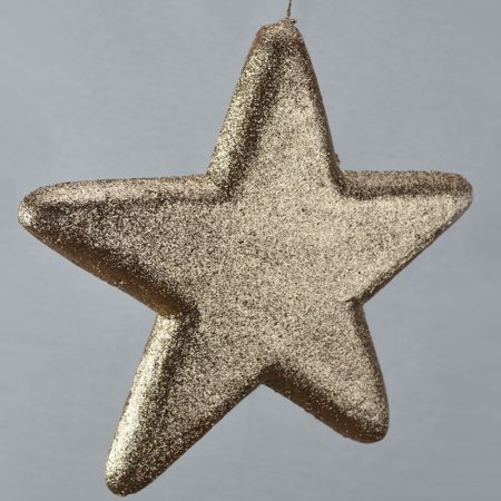 Διακοσμητικό χριστουγεννιάτικο αστέρι, Σαμπανί, 50cm