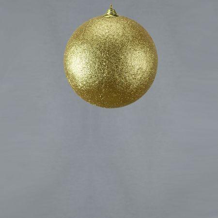 XL Διακοσμητική χριστουγεννιάτικη μπάλα Glitter Χρυσή 13,5cm