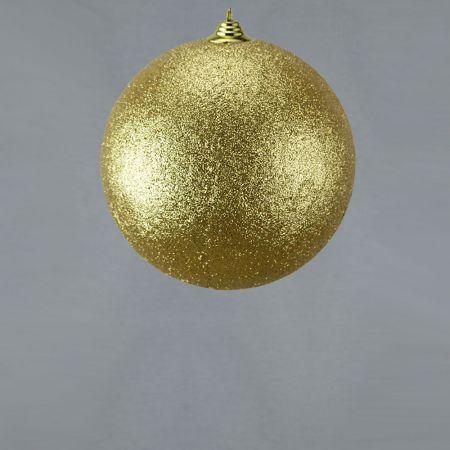 XL Διακοσμητική χριστουγεννιάτικη μπάλα Glitter Χρυσή 18cm