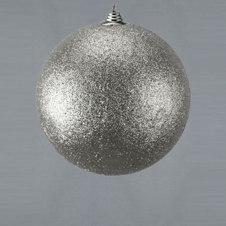 XL Διακοσμητική χριστουγεννιάτικη μπάλα Ασημί, 25cm