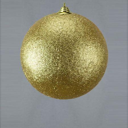 XL Διακοσμητική χριστουγεννιάτικη μπάλα, Χρυσή, 25cm