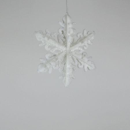Διακοσμητική Χριστουγεννιάτικη κρεμαστή χιονονιφάδα 30cm