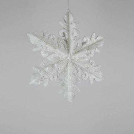 Διακοσμητική Χριστουγεννιάτικη κρεμαστή χιονονιφάδα 40cm