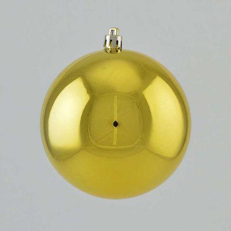 Χριστουγεννιάτικη μπάλα πλαστική Χρυσή γυαλιστερή 10cm