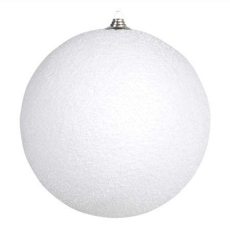 Κρεμαστή χιονόμπαλα Λευκή χιονισμένη 25cm