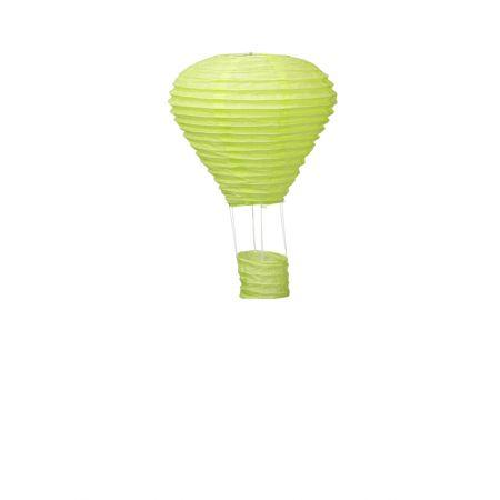 Διακοσμητικό κρεμαστό αερόστατο Πράσινο ανοιχτό, 25cm