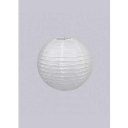 Διακοσμητικό φανάρι - μπάλα Λευκό 15cm