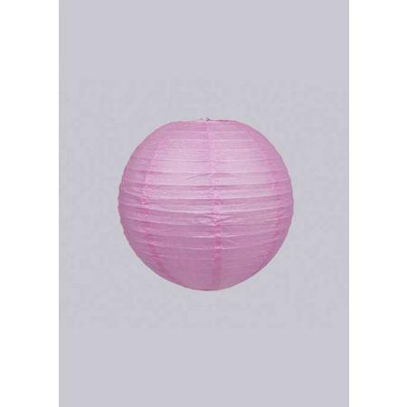 Διακοσμητικό φανάρι - μπάλα Ροζ 15cm