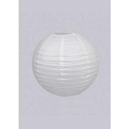 Διακοσμητικό φανάρι - μπάλα Λευκό 20cm