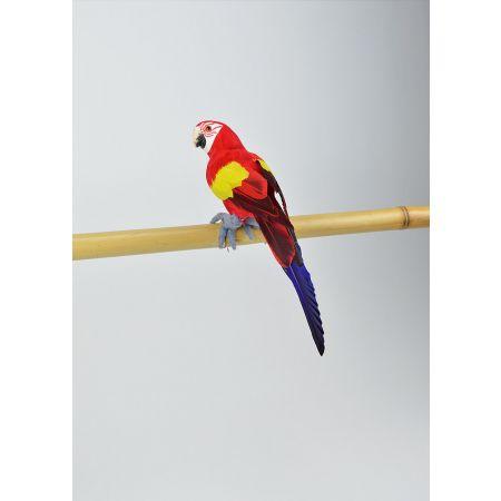 Διακοσμητικός παπαγάλος Κόκκινος 31cm