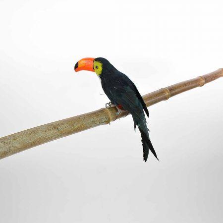 Διακοσμητικό Πουλί Τουκάν Μαύρο 25cm