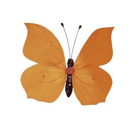 Διακοσμητική πεταλούδα πορτοκαλί, 80cm