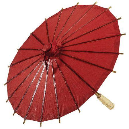 Διακοσμητική ομπρέλα χάρτινη Κόκκινη 40cm