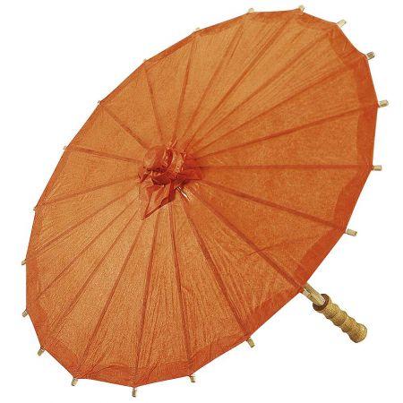 Διακοσμητική ομπρέλα χάρτινη Πορτοκαλί 40cm