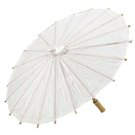 Διακοσμητική ομπρέλα χάρτινη Λευκή 40cm