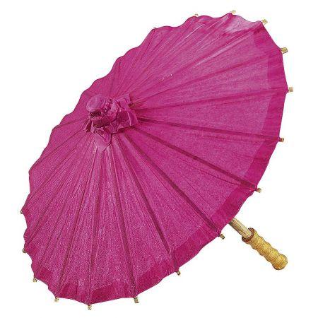 Διακοσμητική ομπρέλα χάρτινη Ροζ 40cm