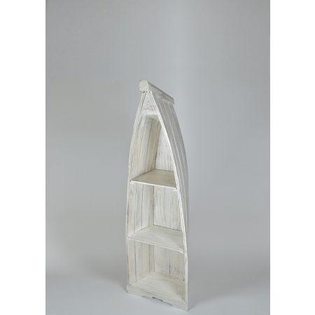Διακοσμητική ραφιέρα βάρκα, Λευκή 140x45x30cm