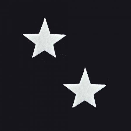 Σετ 2τχ Διακοσμητικά Χριστουγεννιάτικα αστέρια από βάτα 12cm