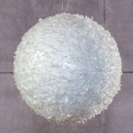 Χριστουγεννιάτικη κρεμαστή χιονόμπαλα 15cm