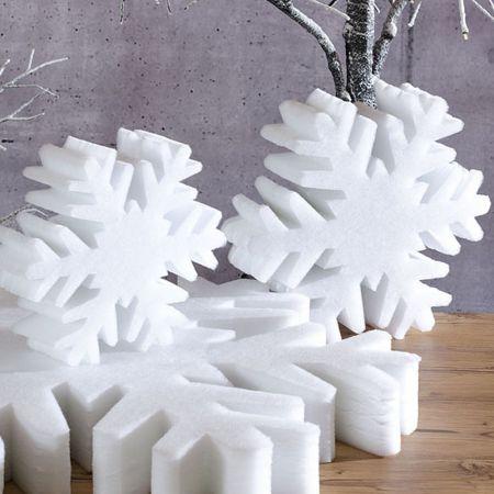 Διακοσμητική νιφάδα χιονιού από βάτα 10cm/75cm