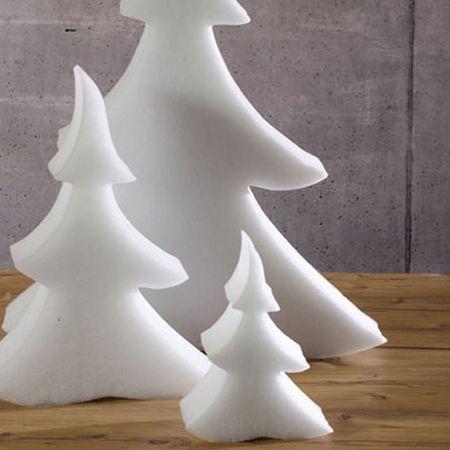 Διακοσμητικό χιονισμένο δέντρο - έλατο από βάτα 10cm/25cm