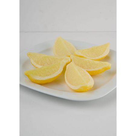 Σετ 6τχ Διακοσμητικά κομμένα λεμόνια 1/4 απομίμηση 9x4cm