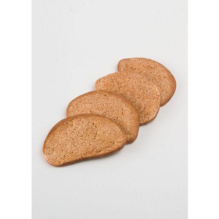 Σετ 4τχ Διακοσμητικές φέτες μαύρο ψωμί απομίμηση 14x9x0,8cm