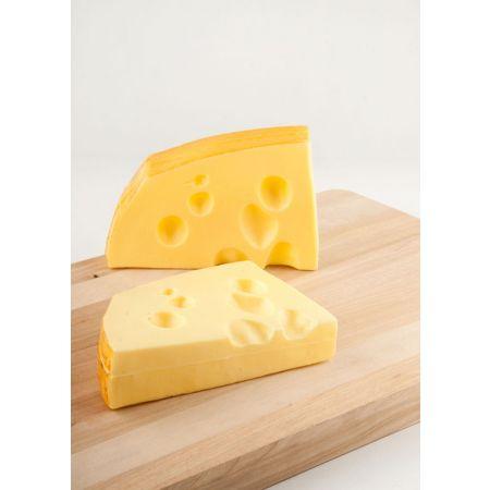 Σετ 2τχ διακοσμητικά κομμάτια ελβετικού τυριού απομίμηση 16x10cm