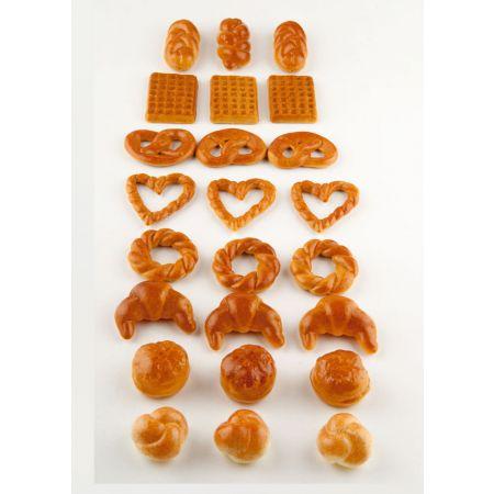 Σετ 24τχ διακοσμητικά mini είδη αρτοποιείου διάφορα απομίμηση
