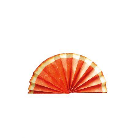 Διακοσμητική χάρτινη βεντάλια - φέτα πορτοκάλι 80cm