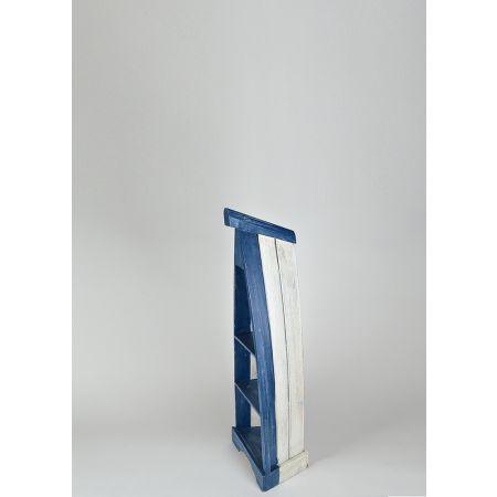 Διακοσμητική ραφιέρα βάρκα, Μπλε 100x35x25cm