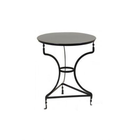 Διακοσμητικό τραπέζι καφενείου γαλβανιζέ Μαύρο 60x72cm
