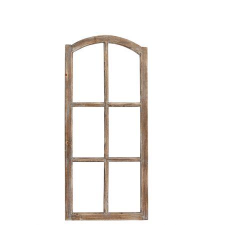 Διακοσμητικό ξύλινο παράθυρο Καφέ 112x50cm