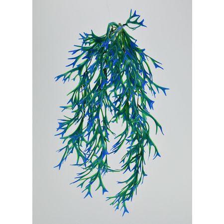 Διακοσμητική δέσμη με φύκια Μπλε - Πράσινη 63cm