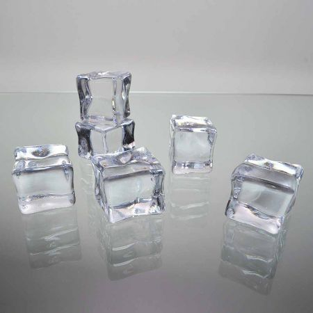 Σετ 6τχ Απομίμηση πάγου - παγάκια 2,6x2,2cm