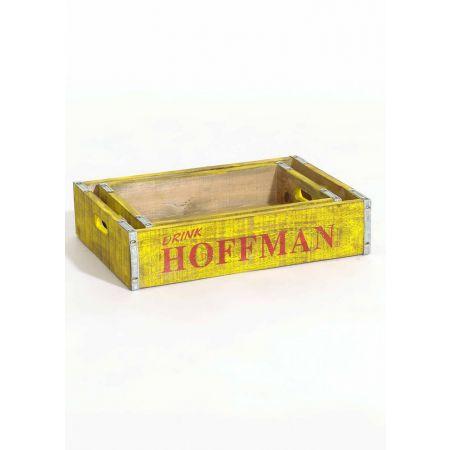 Σετ 2τχ Διακοσμητικά κουτιά για μπουκάλια Κίτρινα 44x30x10cm
