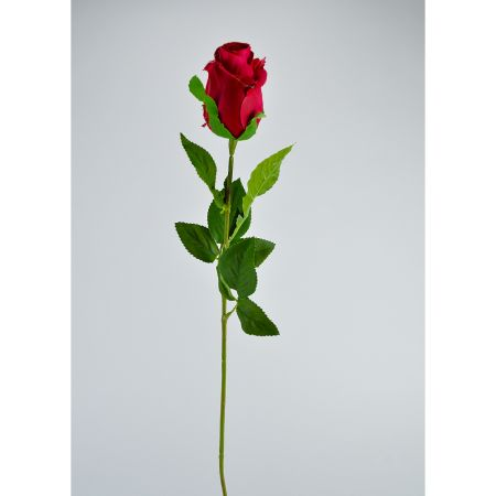 Διακοσμητικό τριαντάφυλλο - μπουμπούκι κόκκινο 67cm