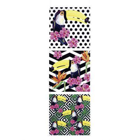 Διακοσμητικές πινακίδες PVC με Τουκάν 150x50 cm