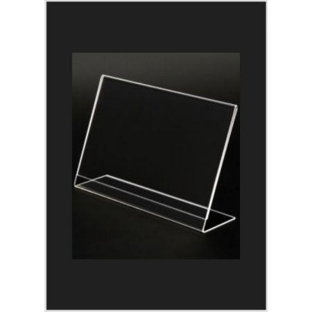 Σταντ εντύπων - τιμών Plexiglass 8x6cm με κλίση