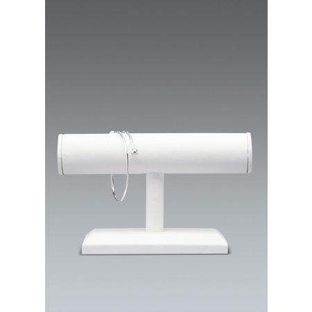 Σταντ παρουσίασης για βραχιόλια και ρολόγια 13x19x4cm-Λευκή Δερματίνη