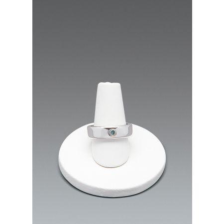 Σταντ παρουσίασης για δαχτυλίδια 3.5x4cm-Λευκή Δερματίνη