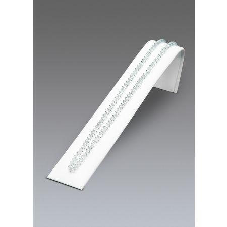 Σταντ επικλινές για βραχιόλια και ρολόγια 5x4x20.5cm-Λευκή Δερματίνη